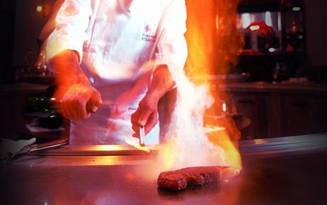対面調理レストラン
